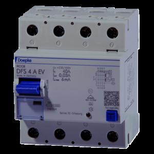 Doepke RCD typu A EV z detekcją prądu DC